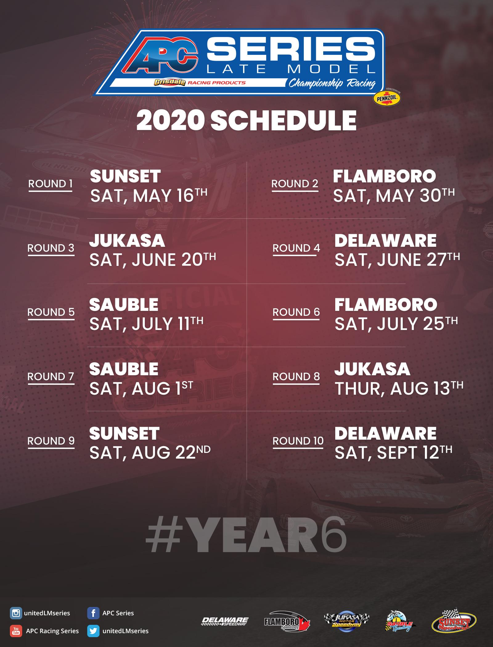 2020 APC Series Schedule